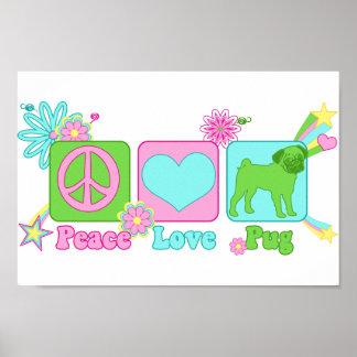 Paz - amor - barro amasado póster