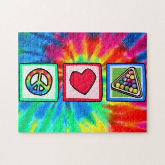 Paz, amor, billares puzzle