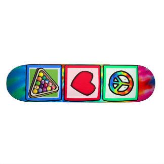 Paz, amor, billares tablas de skate
