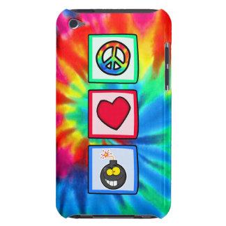 Paz, amor, bombas iPod touch Case-Mate cobertura