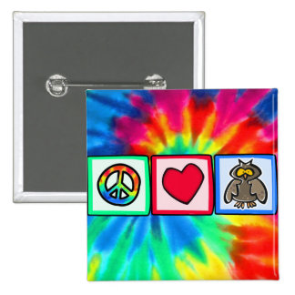 Paz amor búhos pin