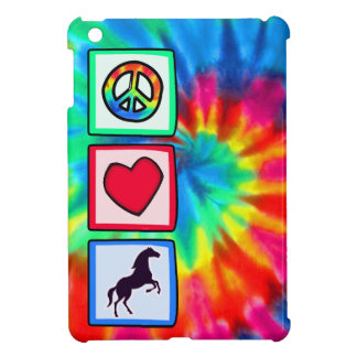 Paz, amor, caballos iPad mini protector