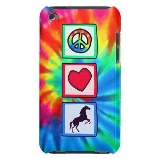 Paz, amor, caballos iPod Case-Mate funda