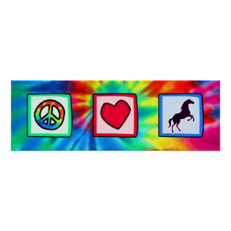 Paz, amor, caballos póster