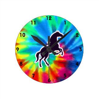 Paz, amor, caballos relojes de pared
