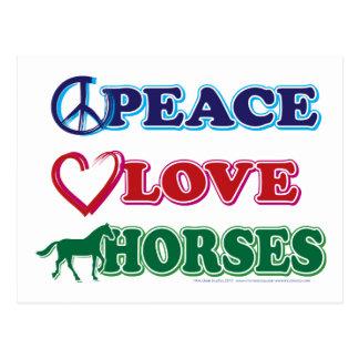 Paz-Amor-Caballos Postal