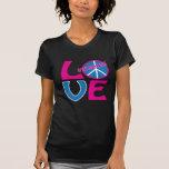 Paz, amor, camisa de los chicas que nada