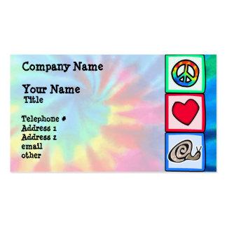 Paz, amor, caracoles tarjetas de visita
