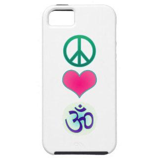 Paz amor caso de OM Iphone5 iPhone 5 Cárcasas