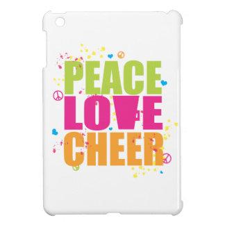 Paz, amor, caso del iPad de la alegría mini