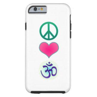 Paz amor caso del iPhone 6 de OM
