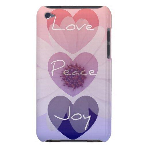 Paz, amor, caso del tacto de iPod de la flor de la iPod Case-Mate Carcasas