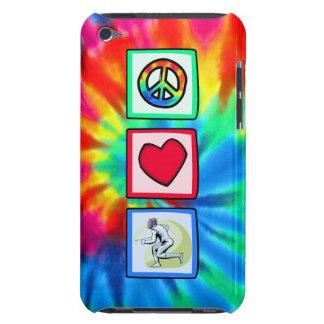 Paz, amor, cercando barely there iPod cobertura
