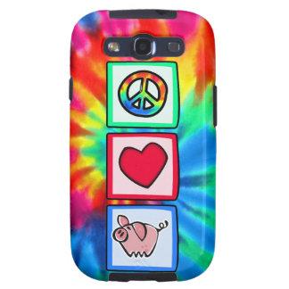 Paz, amor, cerdos galaxy SIII fundas