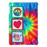 Paz, amor, cerdos iPad mini cárcasas