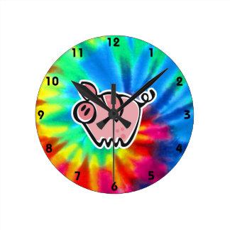 Paz, amor, cerdos relojes de pared