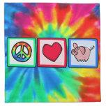 Paz, amor, cerdos servilletas