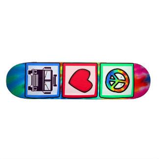 Paz, amor, coches de bomberos patineta personalizada