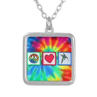 Paz amor colibríes joyerias personalizadas