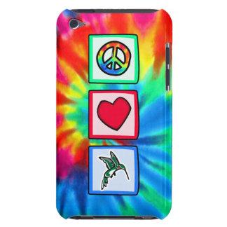 Paz amor colibríes iPod Case-Mate coberturas