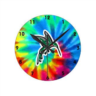 Paz, amor, colibríes relojes de pared