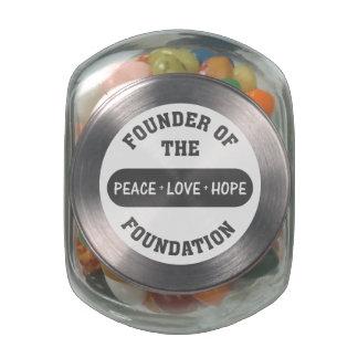 Paz, amor, comienzo de la esperanza conmigo como jarrones cristal