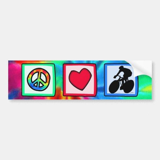 Paz, amor, completando un ciclo pegatina para auto