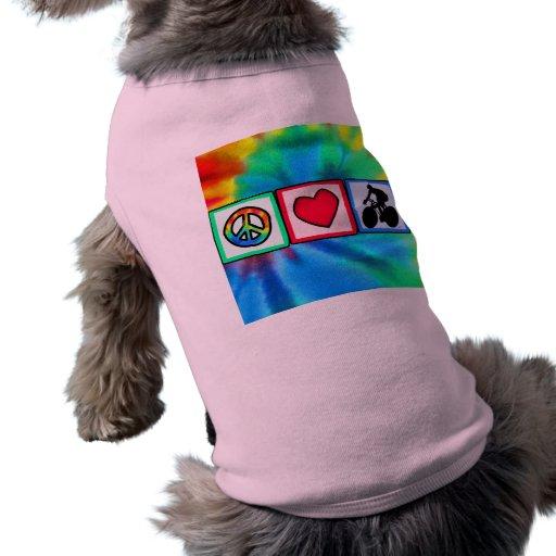 Paz, amor, completando un ciclo camisas de perritos