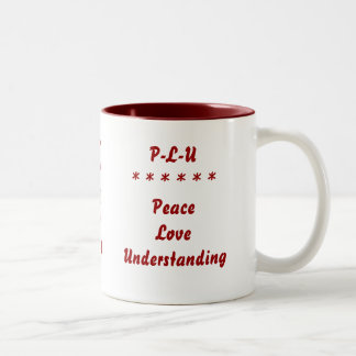 Paz - amor - comprensión tazas de café