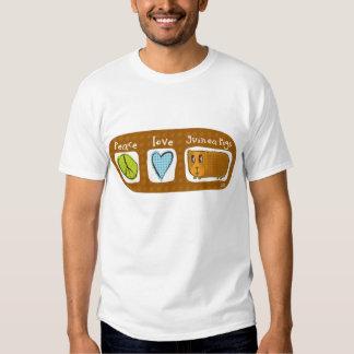 paz, amor, conejillos de Indias 2 Camisas