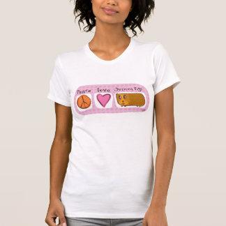 paz, amor, conejillos de Indias Poleras