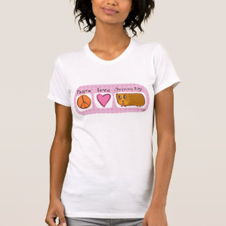 paz, amor, conejillos de Indias Tee Shirt