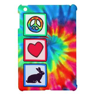Paz, amor, conejitos iPad mini cárcasa