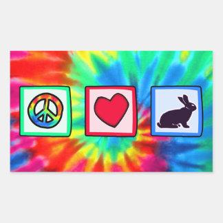 Paz, amor, conejitos rectangular altavoz