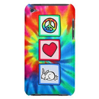 Paz, amor, conejos iPod touch funda