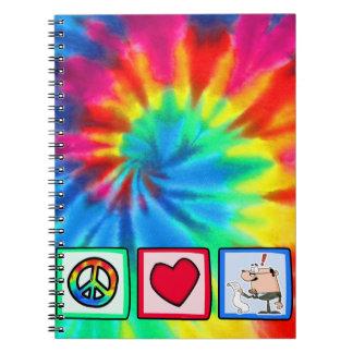 Paz, amor, contables cuadernos