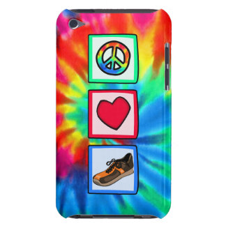 Paz, amor, corriendo barely there iPod protectores