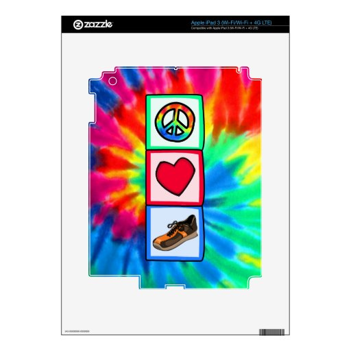 Paz, amor, corriendo iPad 3 skin