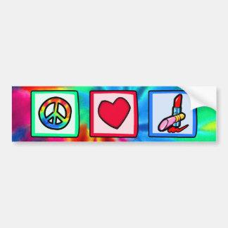 Paz, amor, cosméticos pegatina para auto