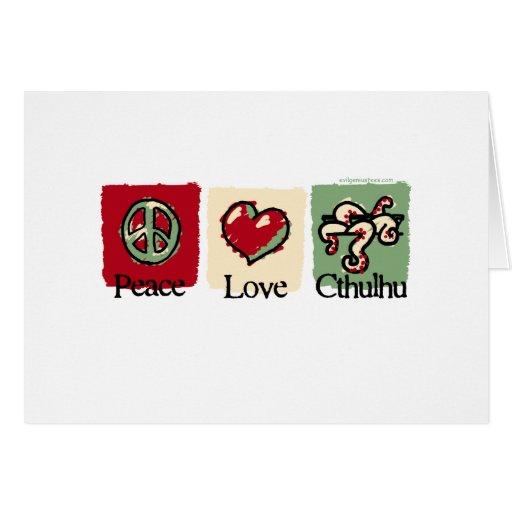 Paz. Amor. Cthulhu. Tarjeton