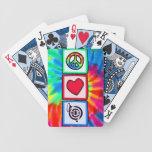 Paz, amor, cuernos cartas de juego