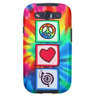 Paz, amor, cuernos samsung galaxy s3 protectores