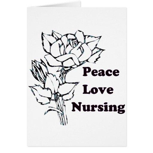 Paz, amor, cuidando tarjetas
