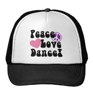 Paz, amor, danza gorro