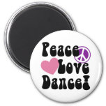 Paz, amor, danza iman de nevera
