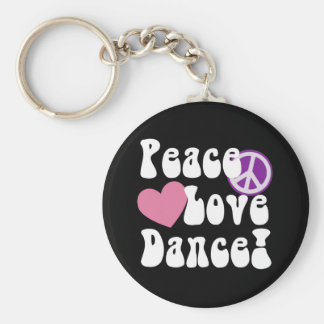 Paz, amor, danza llaveros