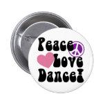 Paz, amor, danza pin