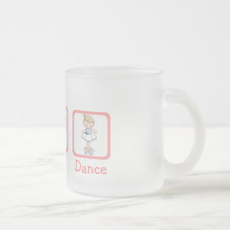 Paz, amor, Danza-Símbolos Taza De Cristal