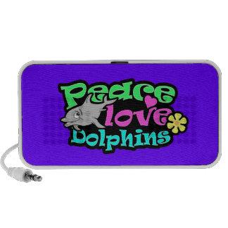 Paz, amor, delfínes; Retro Altavoces De Viaje