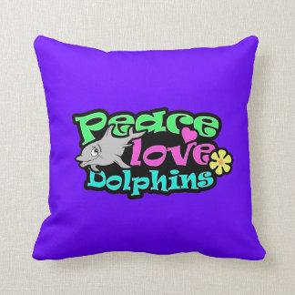 Paz, amor, delfínes; Retro Cojines